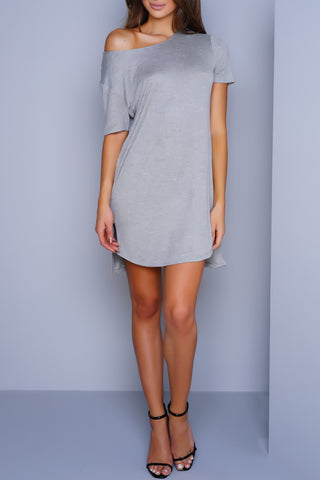 Kora T-Shirt Dress - Grey