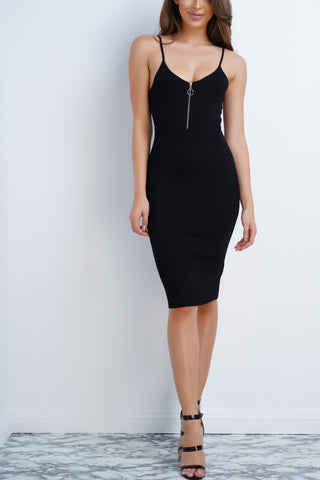Inga Knit Dress - Black