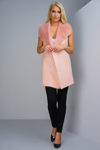 Rebel Outerwear Vest - Pink