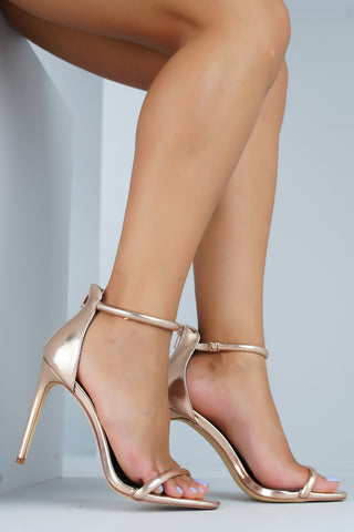 Angelica Heels - Rose Gold