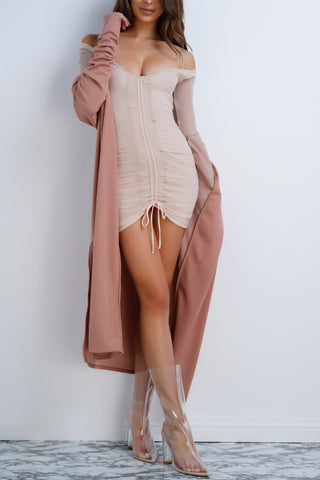 Emmi Mesh Dress - Taupe