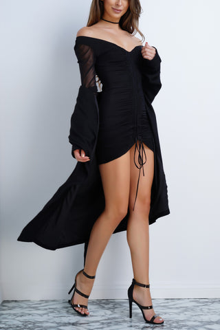 Emmi Mesh Dress - Black - WantMyLook