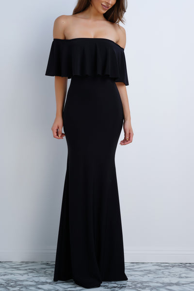 Sophi Maxi Dress - Black - WantMyLook