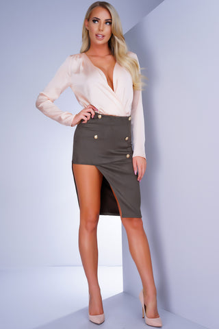 Banks Button Skirt - Olive