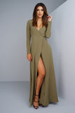 Yasmin Wrap Dress - Sage