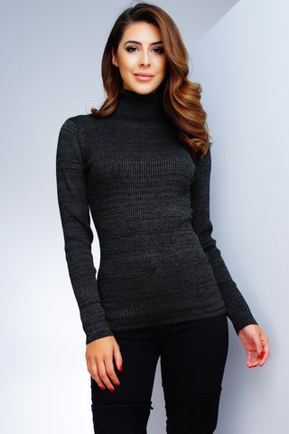 Tatiana Turtleneck Top - Hunter Green - WantMyLook