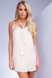 LUV Satin Slip Dress - Champagne - WantMyLook