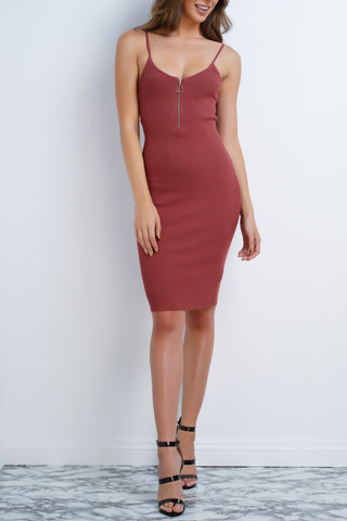 Inga Knit Dress - Mauve