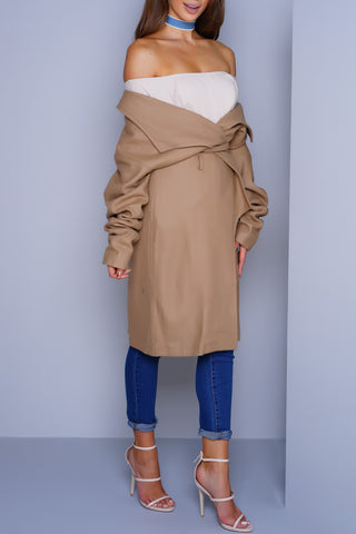 Olivia Trench Coat - Camel
