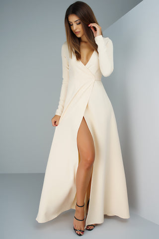 Yasmin Wrap Dress - Ivory