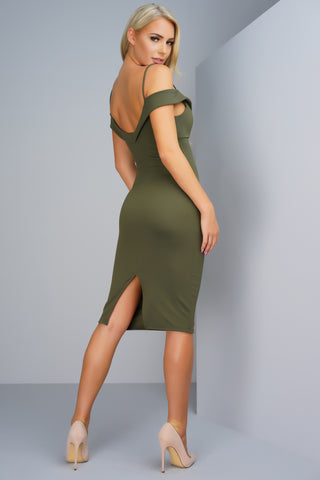 Francesca Dress - Olive - WantMyLook