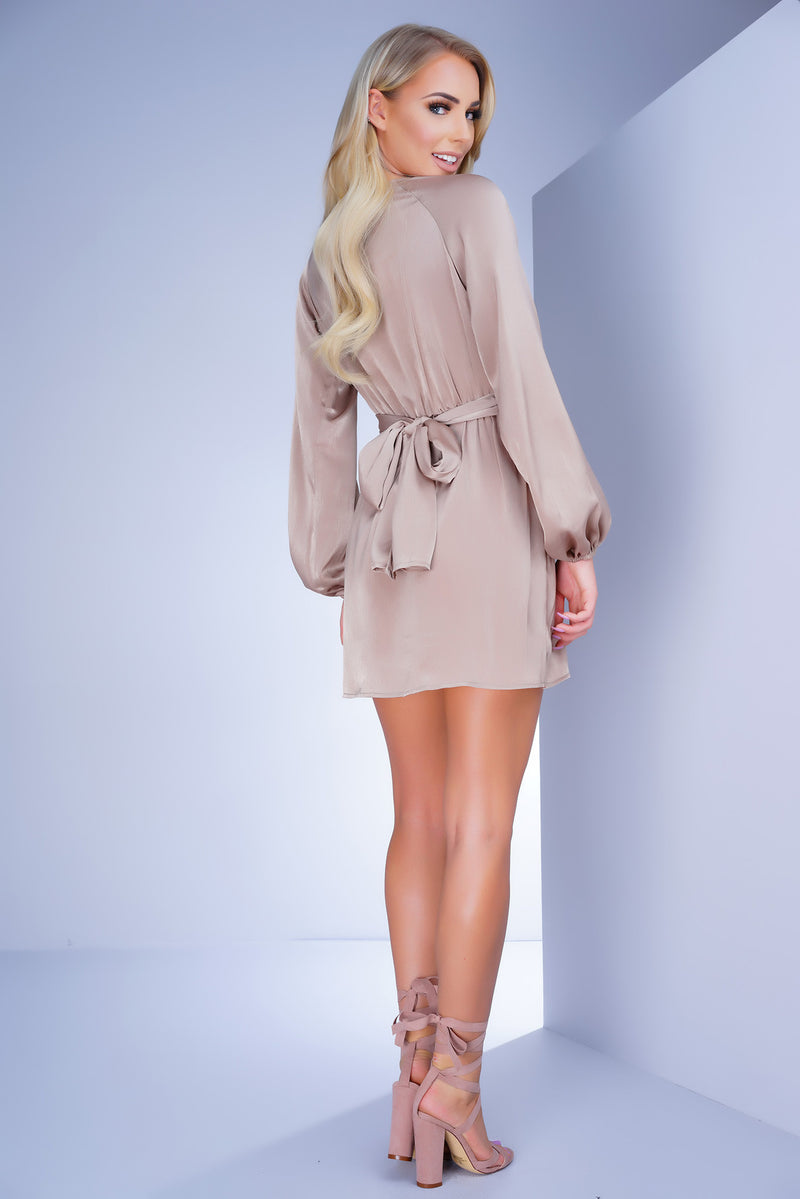 Outshine Dress - Taupe - WantMyLook