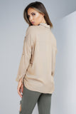 Andrea Button Blouse - Tan