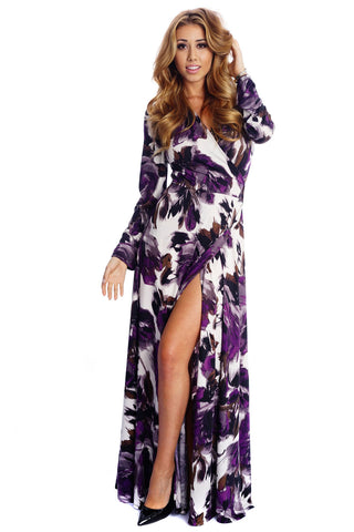 Yasmin Wrap Dress - Lavender Dream
