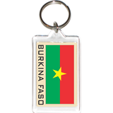 Burkina Faso Acrylic Key Holders