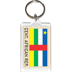 Central African Republic Acrylic Key Holders