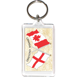 England - Canada Friendship Acrylic Key Holders