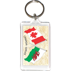Wales - Canada Friendship Acrylic Key Holders