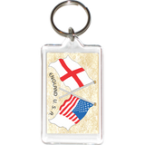 England - USA Friendship Acrylic Key Holders