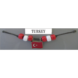 Turkey Fan Choker Necklace