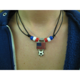 Soccer Ball Team Flag Chokers-Bracelets
