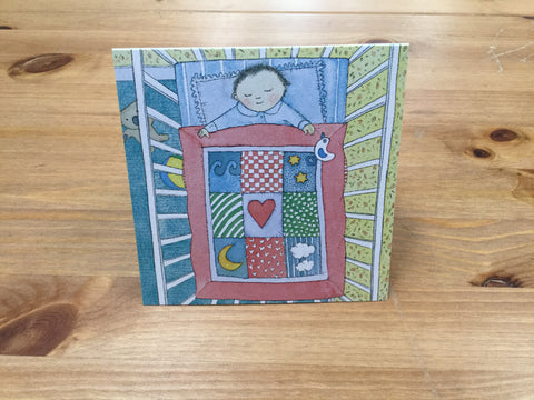 A beautiful patchwork quilt card