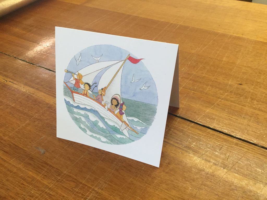 The wind fills our sails card