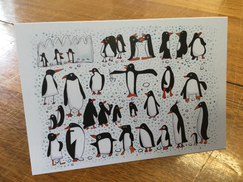 Crazy Penguins card