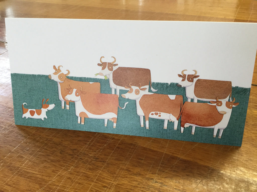 Bigsy and the cows card