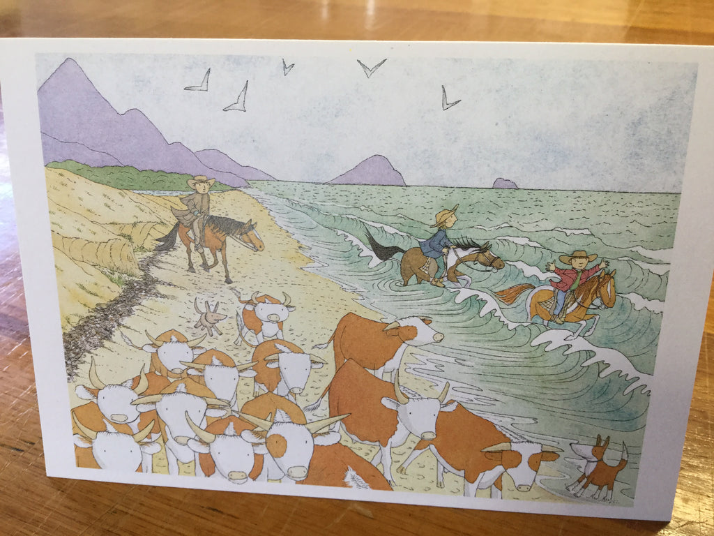 Droving at the beach card