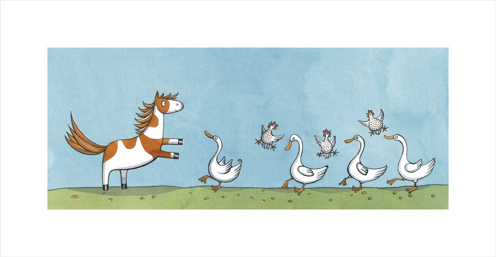 NONI KICKS UP HER HEELS WITH THE HENS AND THE DUCKS