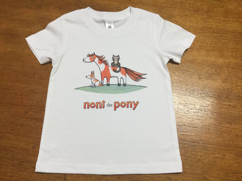 Noni the Pony kids tee Size 4