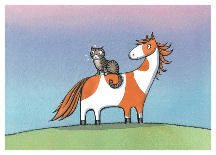 Noni the Pony - blank card, 'Noni the Pony is gentle and kind...'
