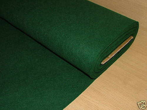 "1 Square Yard (36"" x 36"") Green Baize / Felt Craft Fabric Card Table Christmas"