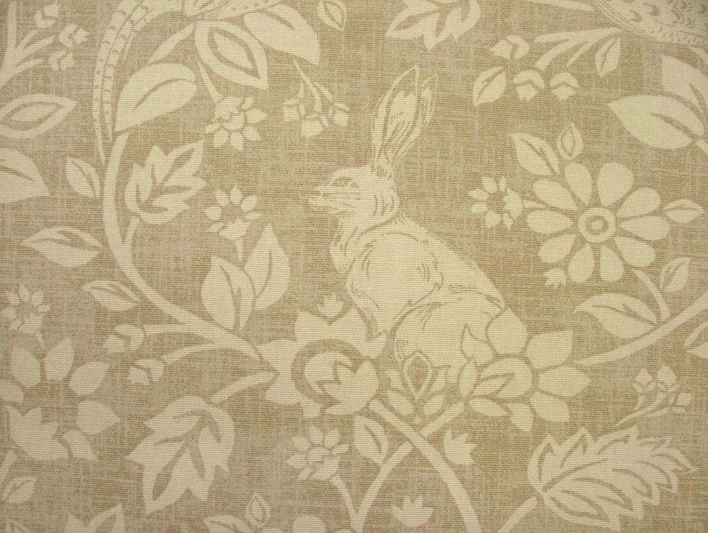 Heathland Hares And Game Birds Cotton Designer Curtain Blinds Upholstery Fabric