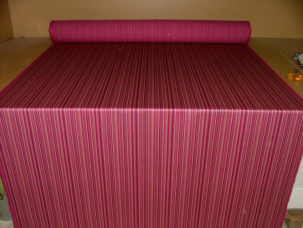 Romo Fabric Pink Stripe 100% Wool Curtain Upholstery Cushion Use RRP £119.00PM