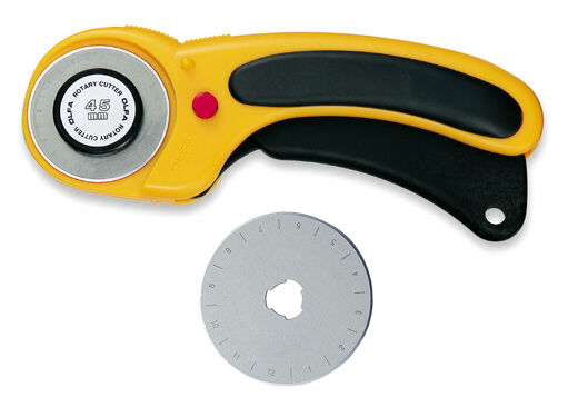 Olfa Rotary Cutter 45mm RTY-2/DX + Spare Replacement 45mm Blade - Free Postage