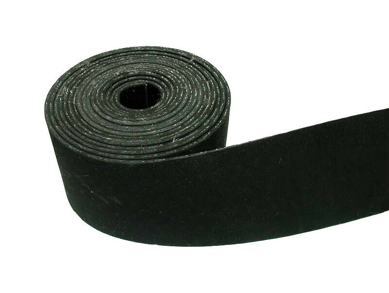 "1.5"" Wide Black Rubber Pirelli Upholstery Settee Chair Webbing - 20m"