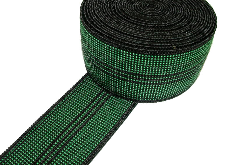"10m Roll Of Green Elastic Upholstery Webbing 2"" For Ercol Cintique Settee Chair"