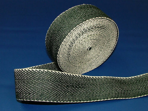 33 Meters Traditional Extra Strong Black & White Webbing  -  Upholstery Supplies