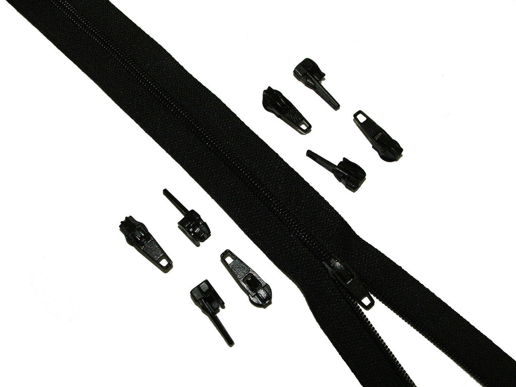 10 Mt Black Upholstery Zips Cushions Continuous Zipping