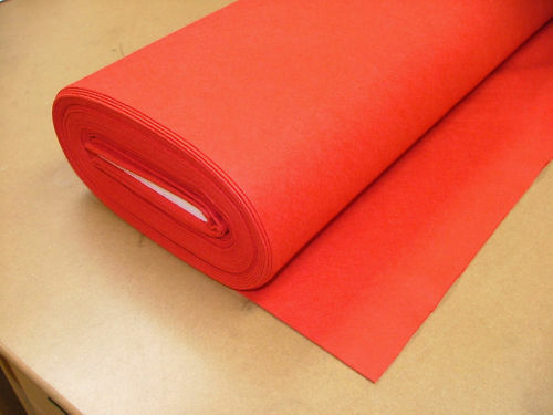 4 Yrd Red Baize / Felt Craft Fabric Card Poker Table