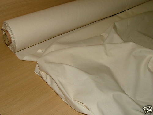 Cream Calico Buy The Metre - Upholstery Curtain Fabric