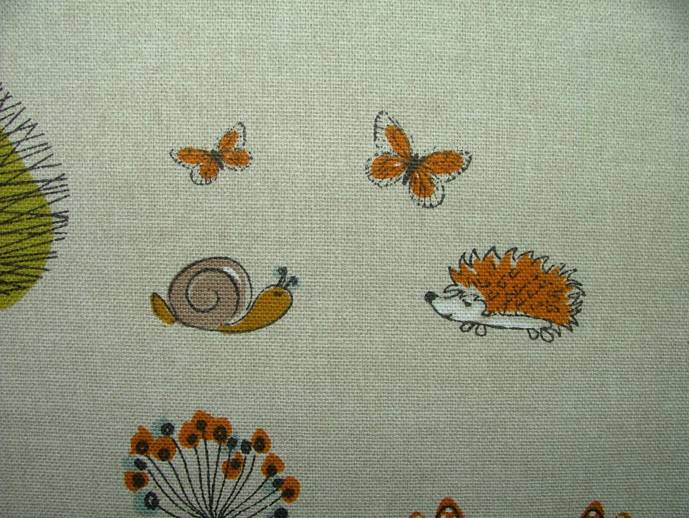 Fryetts Woodland Fox Multi Cotton Curtain Upholstery Cushion Roman Blind Fabric