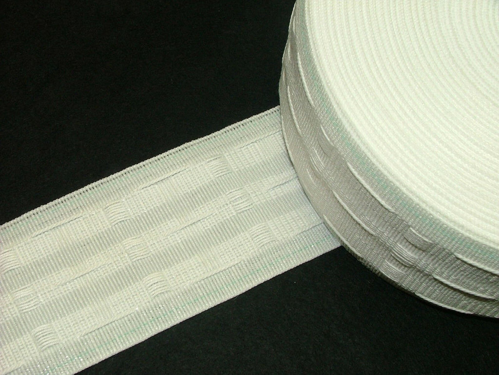 "19m Of 3"" Pencil Pleat Curtain Heading Tape - Fabric"