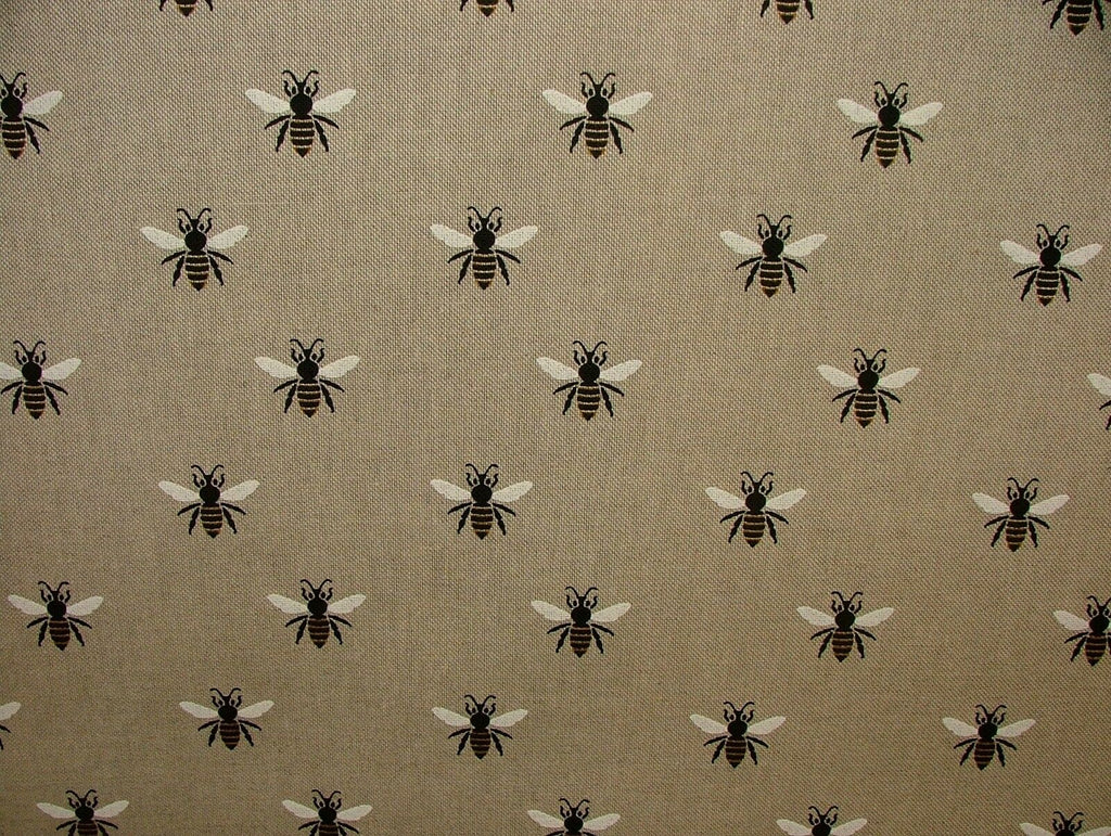 HONEY BEES Fabric Curtain Upholstery Craft Quilting Patchwork Cushion Blind Bags