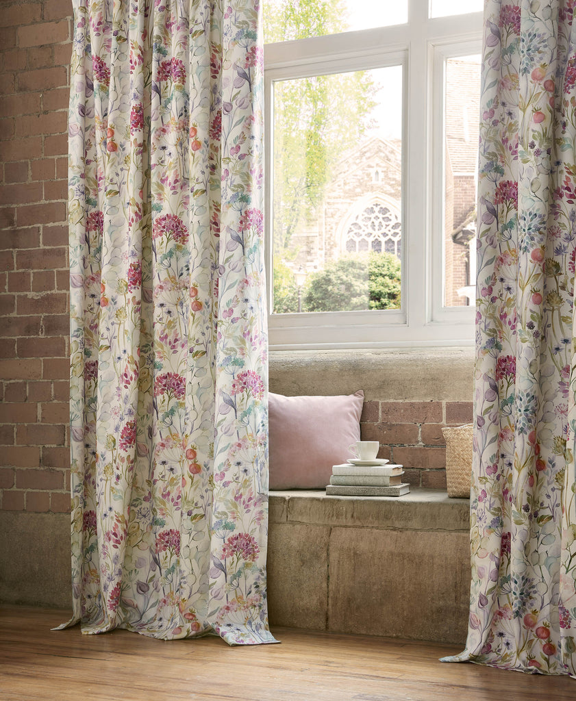 Country Hedgerow Lotus Lined Pencil Pleat Ready Made Curtains By Voyage Maison Group