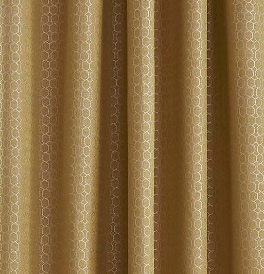 Flynn Ochre Blackout Lined Eyelet Ready Made Curtains By Ashley Wilde Group