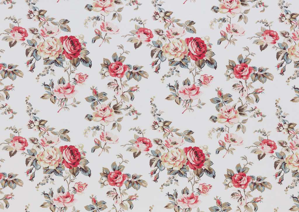Garden Rose Multi Curtain Upholstery Cushion Fabric Volume 1 By Cath Kidston