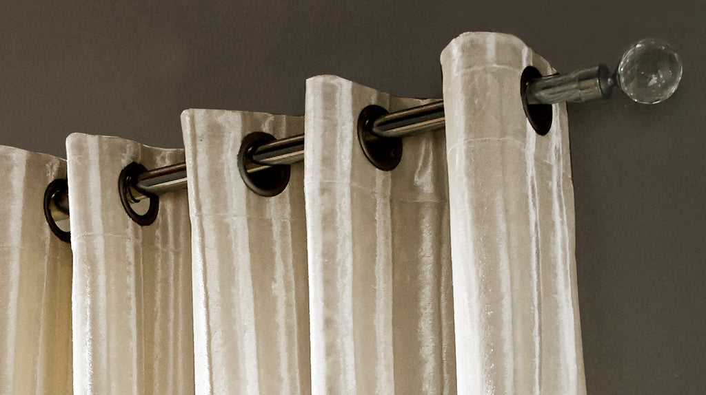 Iliana Oyster Lined Eyelet Ready Made Curtains By Ashley Wilde Group